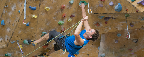 Image result for lead climbing
